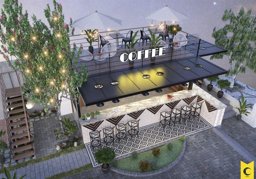 thiet ke cafe san vuon