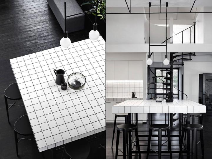 Sự kết hợp đen – trắng trong thiết kế nội thất văn phòng