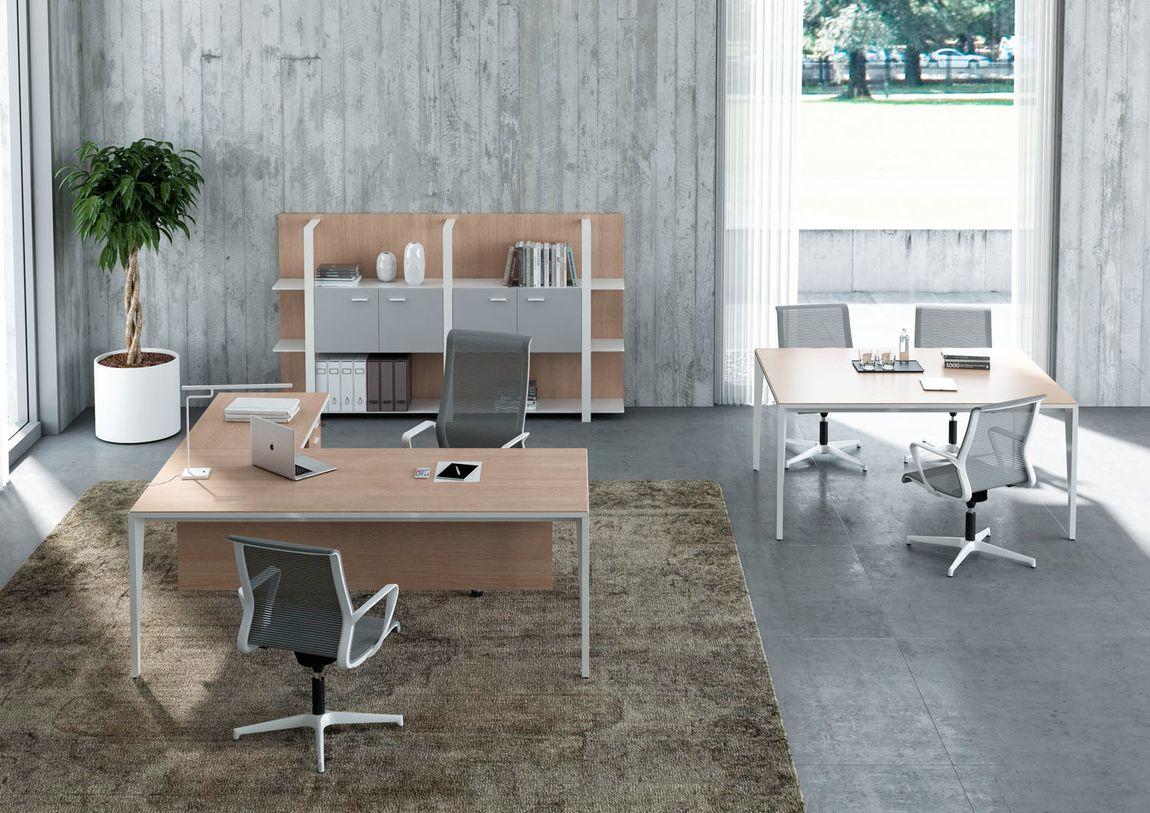 thiết kế văn phòng phong cách tối giản